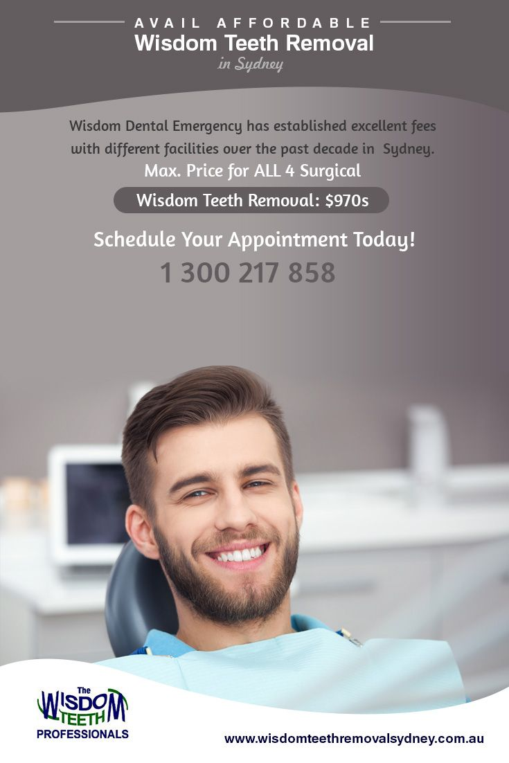 Wisdom Dental Emergency has established excellent fees with different facilities over the past decade in #Sydney. Max. Price for ALL 4 Surgical #WisdomTeethRemoval: $970s.