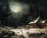 White Horse Inn by Moonlight, Cornelius Krieghoff, National Gallery of Canada (no. 16702)