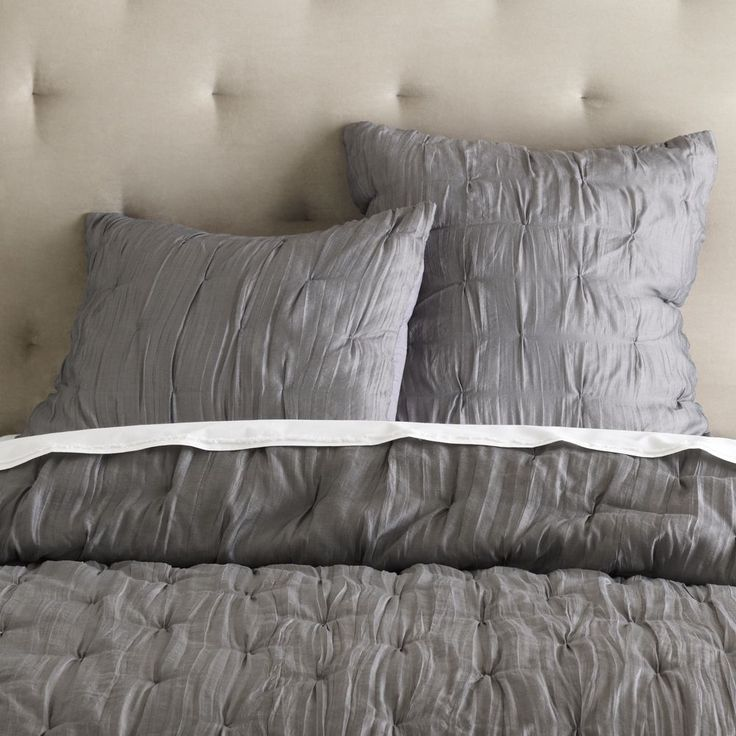 Stella Bedspread + Pillowcases - Grey Stone