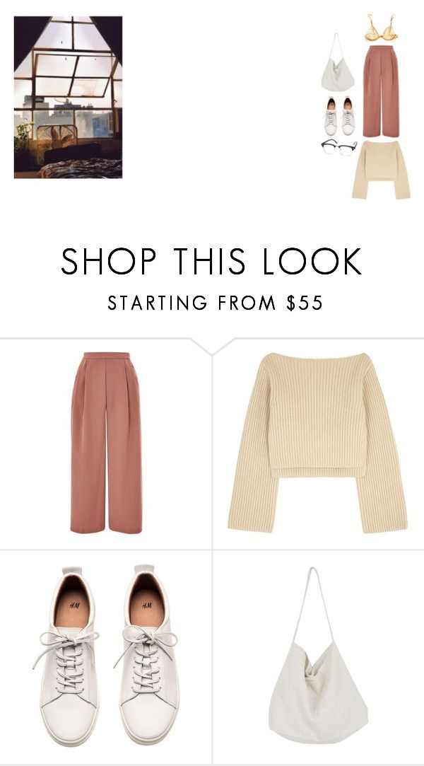 """cozy"" by diana-lx-cazadora ❤ liked on Polyvore featuring Topshop, Khaite, H&M, Cabbages & Roses and La Perla"
