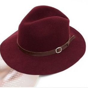 Hot products!New Vintage Sun Hats For Women Ladies Floppy Wide Brim Wool feel hat Cap 4Color Free Shipping