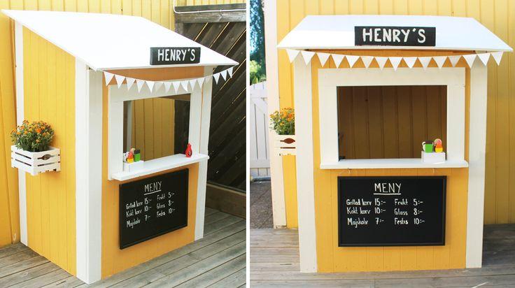 Ett roligt alternativ till att bygga en lekstuga till barnen – bygg en glasskiosk! Här är en enkel ritning och instruktion för hur du går tillväga,...