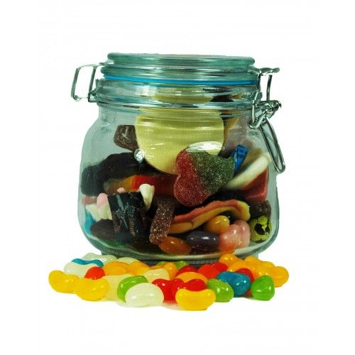 Medium Treat Gift Jar. #Food gifts, #hampers #UK and #Ireland, hampers #online. http://www.heritagehampers.com/gift-types/gift-types-gift-baskets-non-alcoholic/medium-treat-gift-jar