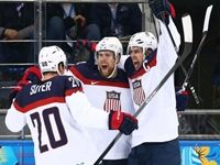 They are getting closer.  The US men's hockey team defeated the Czech Republic 5-2 in the quarterfinals of the 2014 Winter Olympic Games in Sochi, Russia on Wednesday. James Van Riemsdyk scored for the US only 1:39 into the first period. The lead was lost a few minutes later when Ales Hemksy picked up the puck after a failed clear and scored, but it did not bother the Americans. Dustin Brown and David Backes scored two more goals and the USA went into the first intermission with a 3-1 lead.