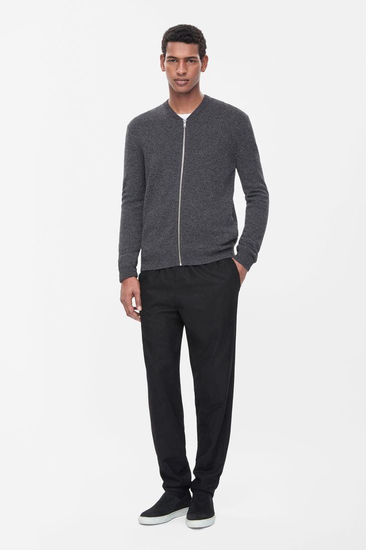 Lambswool zip-up cardigan Size M