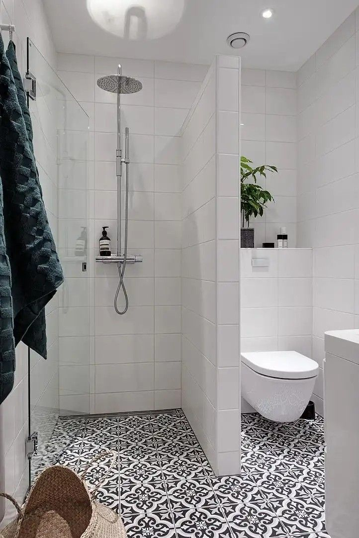 Divider Between Shower And Toilet Small Bathroom Layout Small Bathroom Bathroom Design Small