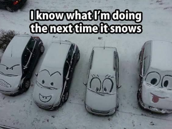 I KNOW WHAT I'M DOING THE NEXT TIME IT SNOWS:)