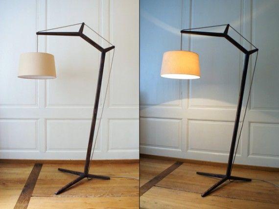Best 25 wooden floor lamps ideas on pinterest diy for Diy floor lamp ideas