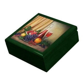 Classic still life with fruits and wine painting gift box #classic #stilllife #still #life #wine #fruits #food #painting #gift #box #keepsake #jewelry #vintage #art