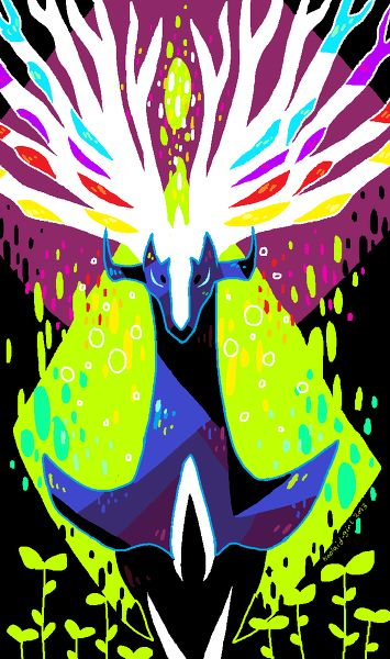 Xerneas.  Who is recently announced to be a Fairy type.