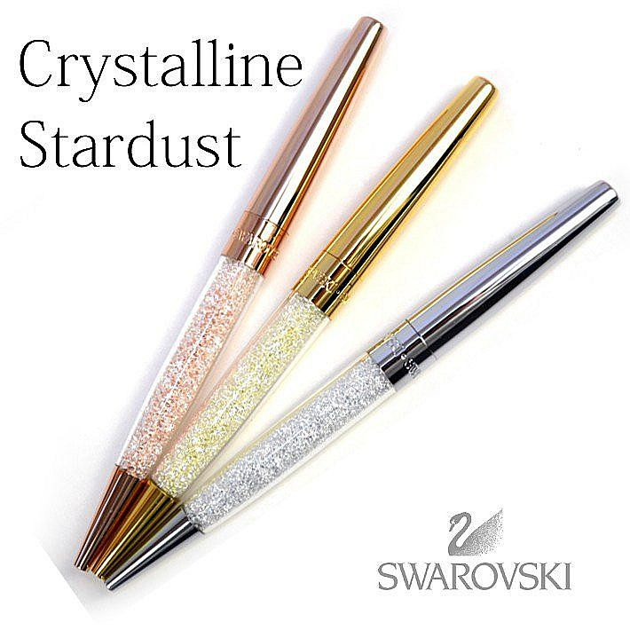 Silver Swarovski Ballpoint Pen Crystalline Diamond Top with Gift Box