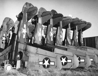 Fighter boneyard at Walnut Ridge, Arkansas, post World War II