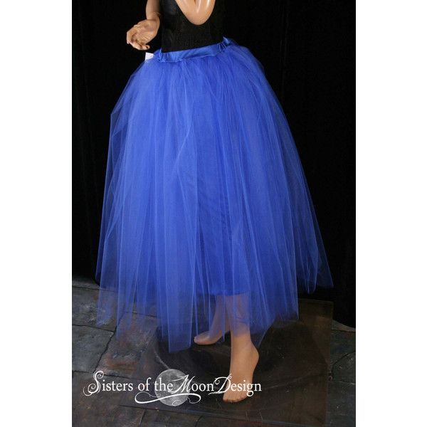 Floor Length Adult Tutu Skirt Royal Blue Extra Puffy Petticoat Two... ($65) ❤ liked on Polyvore featuring skirts, mini skirts, indigo, women's clothing, plus size skirts, blue tutu, mini skirt, royal blue tutu and short mini skirts
