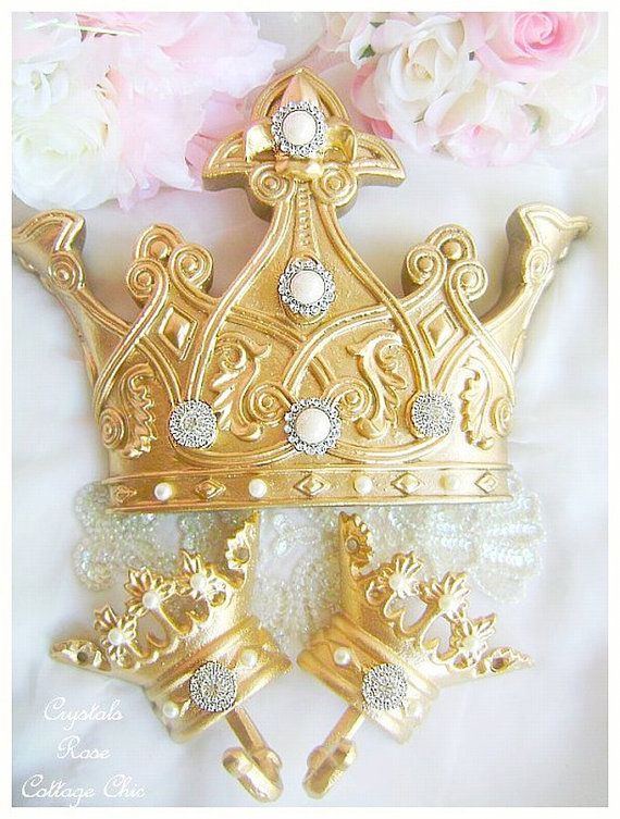 Gold Fleur De Lis Bed Crown Canopy Set Color Choices for Paint and Bling Princess Bed Decor Nursery Romantic Home Decor French Decor