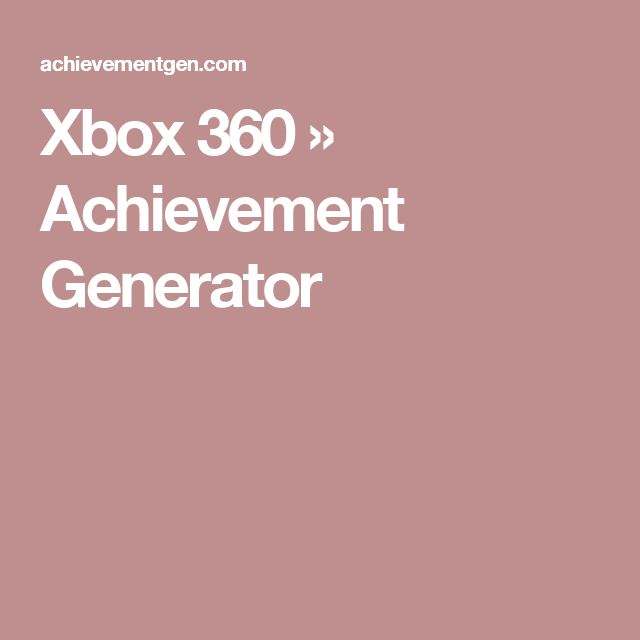 (*** http://BubbleCraze.org - If Tetris and Bubble Shooter had a kid, this would be it! ***)  Xbox 360 » Achievement Generator