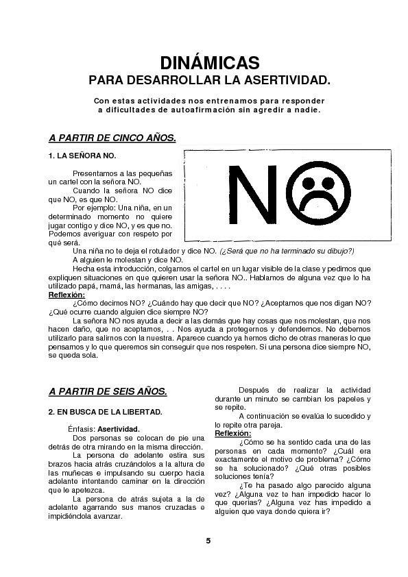 APOYO ESCOLAR ING MASCHWITZ: ACTIVIDADES PARA DESARROLLAR LA ASERTIVIDAD EN NIÑOS