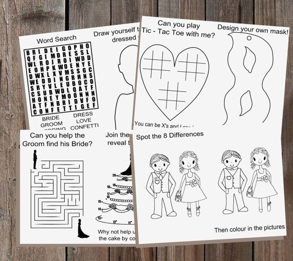Wedding Ideas With A Difference: Printable Wedding Children's Activity Book And By