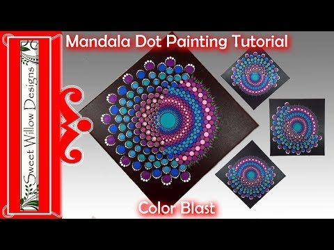 How To Paint Dot Mandalas 014 12 X 12 Canvas Color Blast