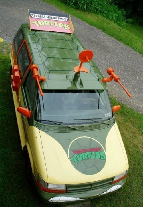 Screw a minivan... I'm toting my kids around in The Party Wagon! I would drive this, but the hubs would not let me.Ninjas Turtles, Mutant Ninjas, Awesome, Cars, Tmnt, Turtles Vans, Ninja Turtles, Turtles Parties, Teenagers Mutant