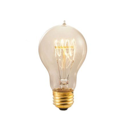 Bulbrite Incandescent Victorian Loop Filament Light Bulb, Warm White, 60W, 1 Ct, Clear
