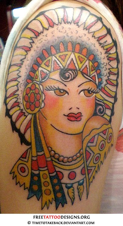 Sailor Jerry Native Indian Girl Tattoo Tattoos Pinterest Sailor Jerry Indian Girl Tattoos