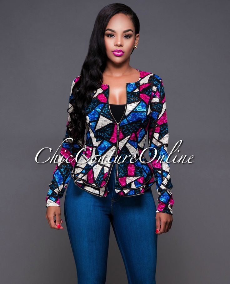 Chic Couture Online - Hypnotize Blue Purple Mosaic Lace Peplum Jacket.(http://www.chiccoutureonline.com/hypnotize-blue-purple-mosaic-lace-peplum-jacket/)