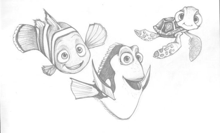 findind nemo pixar sketches | Finding Nemo! by Vorfilya
