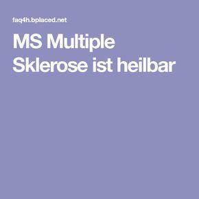 MS Multiple Sklerose ist heilbar