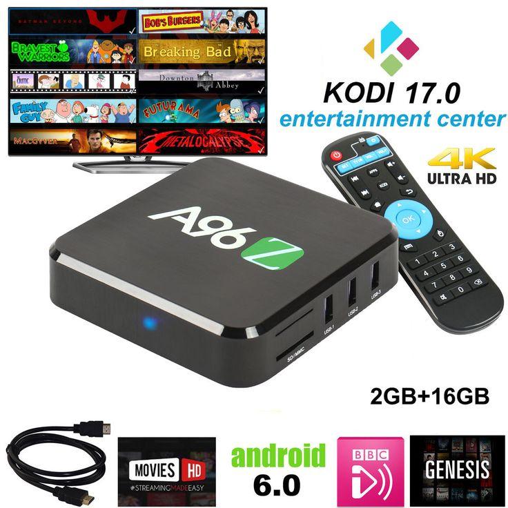 Kodi Box Android TV Box Best Streaming Player android 6.0 UHD kodi 17.0 Loaded  #Twinpa