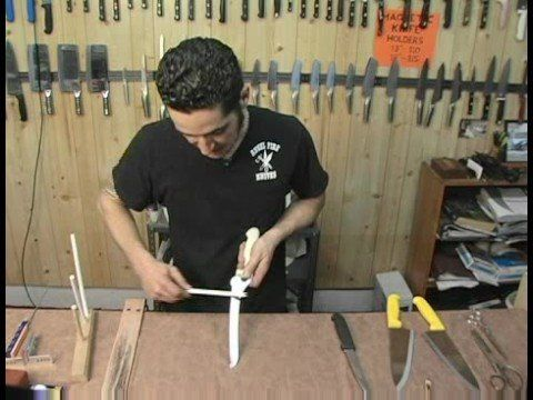 How to sharpen a serrated knife.  Video.