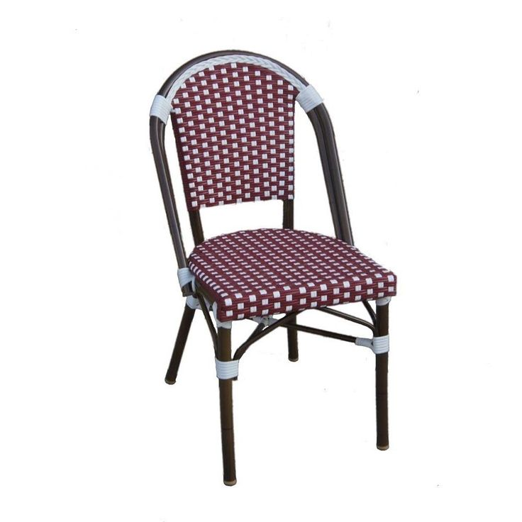 Tiab and White Cafe Bistro Chair