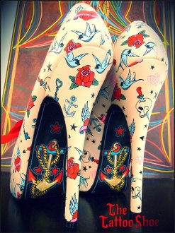 Another for Colleen! Anchor Or The Sparrow Heels by The Tattoo Shoe