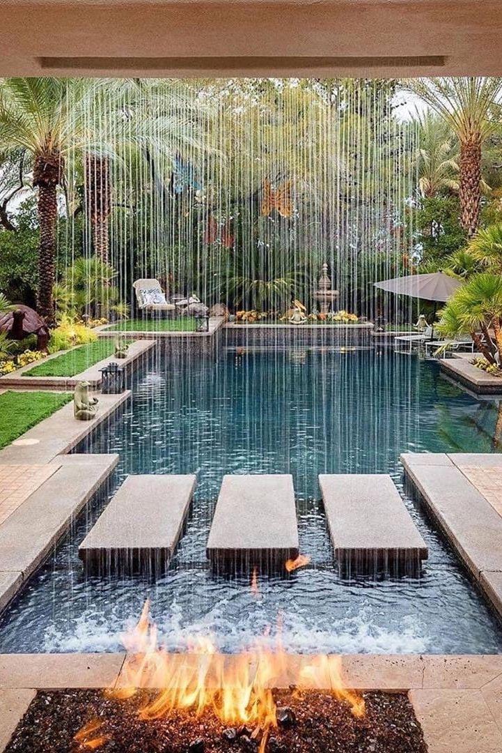 Backyard Oasis Backyard Pool Designs Swimming Pool Landscaping Swimming Pools Backyard