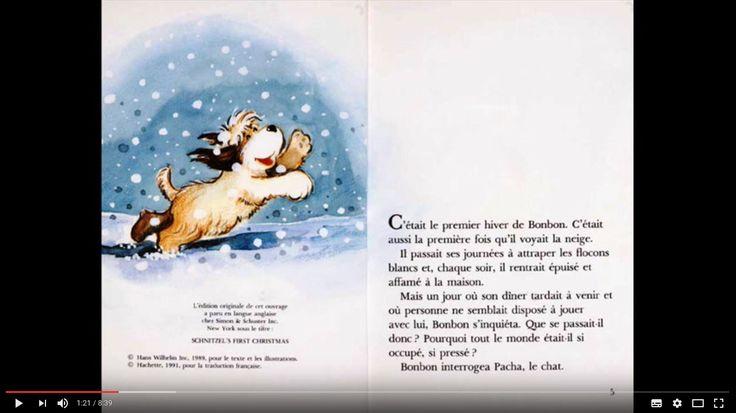 Livre AUDIO, le 1er Noël de bonbon. Texte et image à l'écran