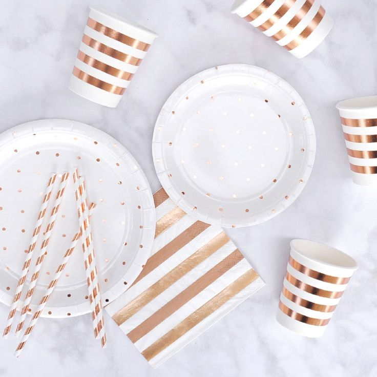 Our Rose Gold Tableware is perfect for any event! Shop online now at www.whitelacepartyware.com.au Cups, Plates, Straws, Cutlery and Napkins available in Rose Gold and Silver ⚡️