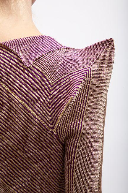 Knitting inspiration: Sweet shoulder on Alice Palmer sweater dress. Spring/Summer 2012