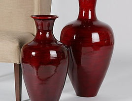 Chelsea Vases Red - eclectic - vases - Bambeco