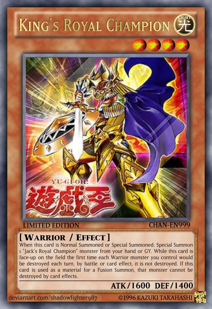 Kings royal champion in 2020 custom yugioh cards