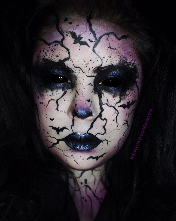 """• Ꮢeba • (@venomousvanity) on Instagram: """"Bat's Nest 31 Days of Halloween Day 30! PRODUCTS: @makeupforeverca @makeupforeverofficial White…"""""""