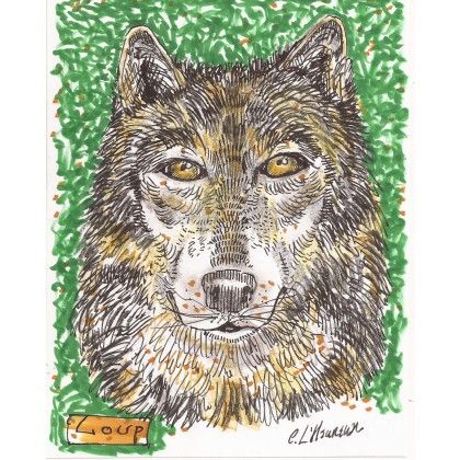 Loup #wolf #animal #markers