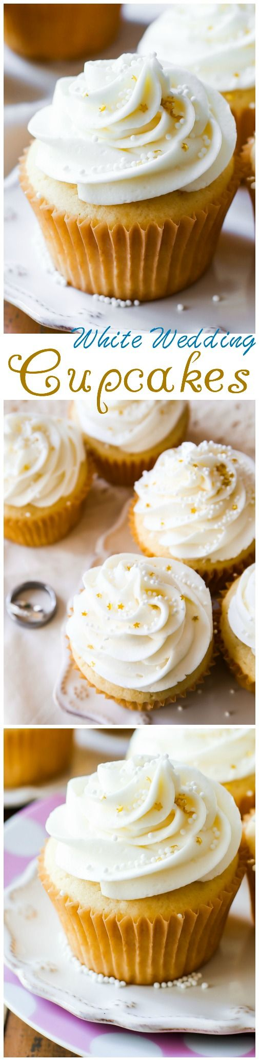 White Wedding Cupcakes - White chocolate, vanilla, and almond flavors come together in these truly elegant homemade wedding treats.