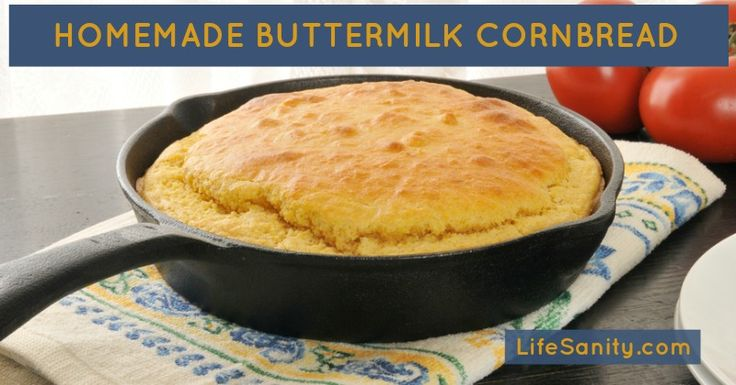 Buttermilk Cornbread | Recipe | Buttermilk Cornbread, Cornbread ...