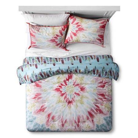 Pacific Fringe Medallion Comforter and Sham Set Multicolor - Boho Boutique™ : Target