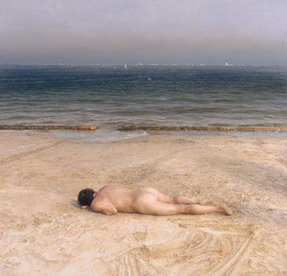 Eduardo Naranjo: Naked Man, Child at Sea, 1984-87
