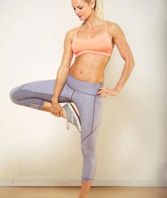 Don't let the holidays get the best of all the hard work you've done this year! Squeeze in these six super effective moves (Back Lunge to Side Kick, Mountain Climbers, Second Position Plié with a Squat, Warrior Three with Leg Lift, Plank Variation, and Heel Lifts) by personal trainer Nora Tobin to stay toned and feeling great this season. No equipment and limited space required!