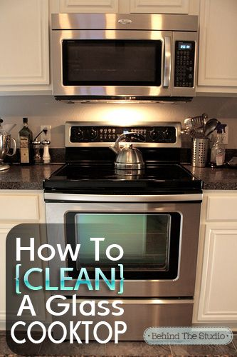 Cleaning Glass Cooktop with baking soda and water #cleaning