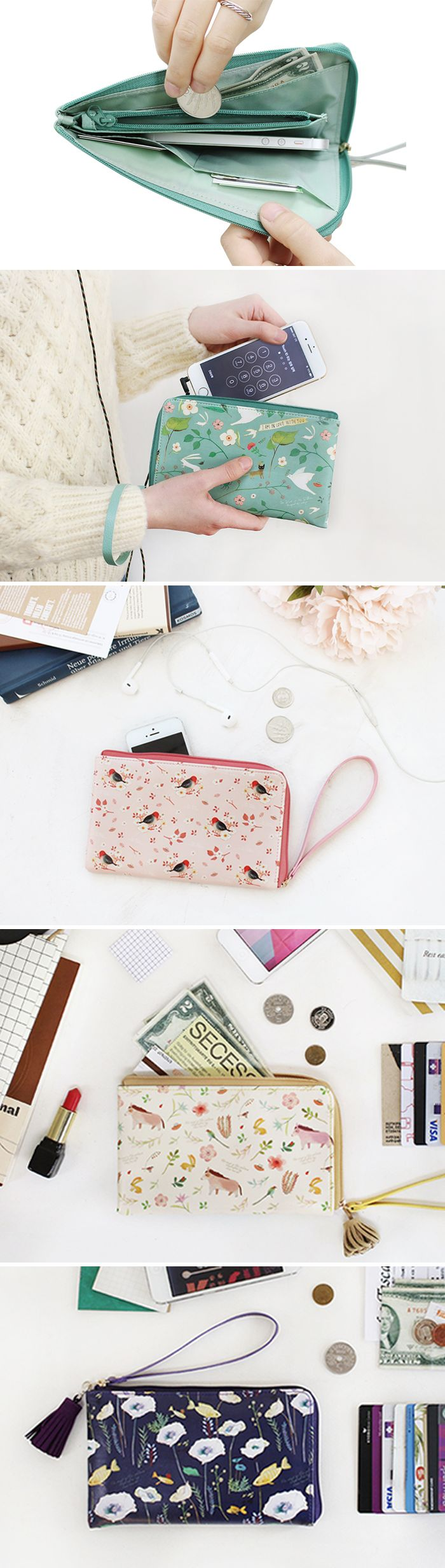 I can't leave my house without this! The Willow Story Smartphone Wallet is officially the cutest way to carry your necessities! It includes 2 card pockets, a coin section, & a pocket for bills. The main compartment is big & flexible enough to hold any smartphone as well as keys, makeup, or other items you may need on the go! It's super light & even has a wrist strap! Plus, the beautiful designs make it a fashion must-have. This is what I need for dates & girls' nights out. Grab one for…