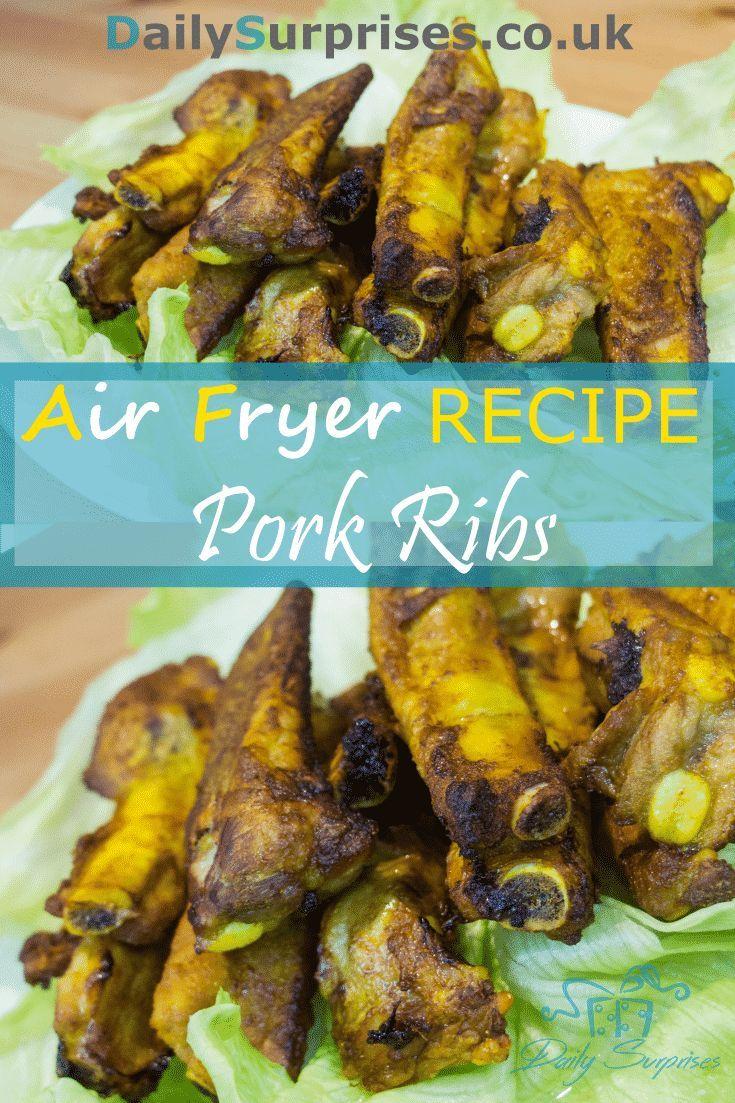 Paprika pork ribs, preparation is under 10mins. It is an air fryer recipe