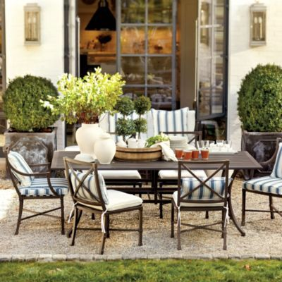 Suzanne kasler directoire 7 piece rectangular dining set for Mobilier de patio