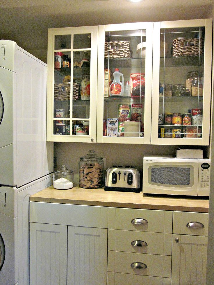 Stacking washer dryer leave room for a pantry in the laundry room 138 best home  mudroom   laundry  images on Pinterest   Home  Mud  . Kitchen Laundry Combo Designs. Home Design Ideas